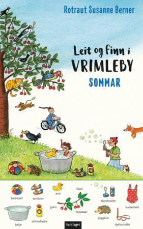 """Omslaget til """"Leit og finn i Vrimleby: Somar"""""""
