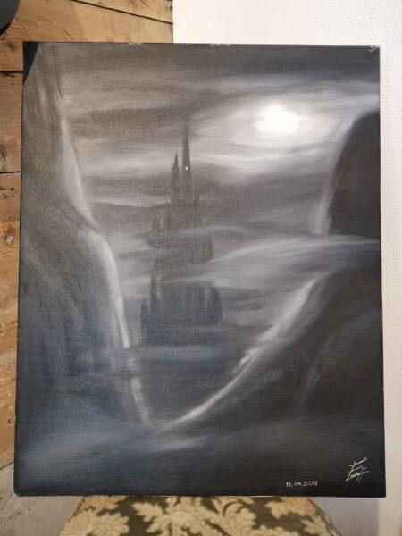 """Foto av maleriet """"Slottet"""" av Emilio Hidalgo"""